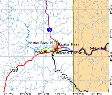 the map grants pass oregon grants pass oregon or 97526 profile population maps