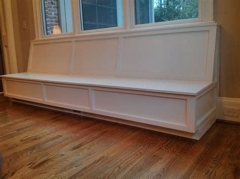storage bench with back long white custom wooden wall mounted window storage bench