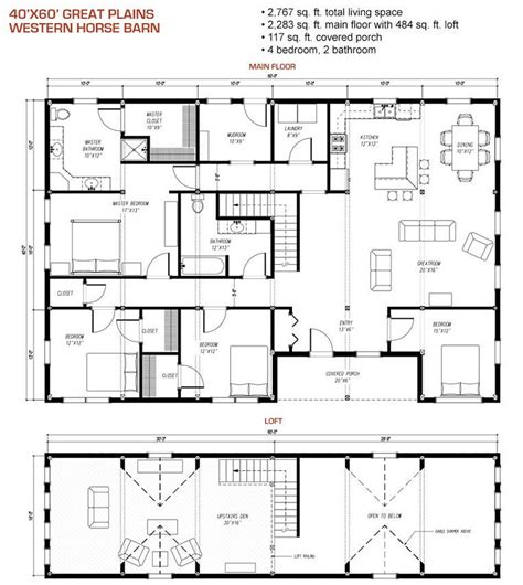 western homes floor plans 40x60 floor plan pre designed great plains western horse