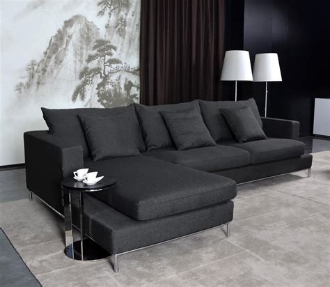 black fabric sectional sofa home furniture design