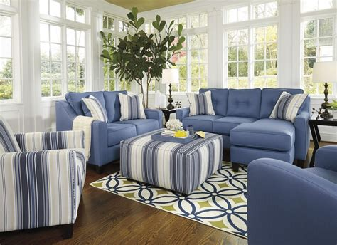 blue living room furniture aldie nuvella blue living room set from coleman