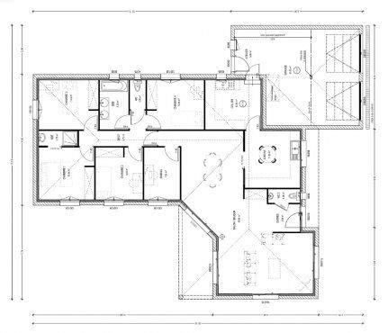 plan maison 騁age 4 chambres 17 meilleures id 233 es 224 propos de plan maison 4 chambres sur