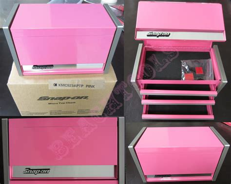 snap on tool box top new snap on rare pink mini top chest tool box mother s day