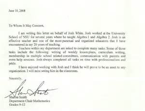 Recommendation Letter For Student In Math References Morgantown Wv Math Tutor