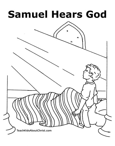 And Samuel Coloring Page samuel hears the call on bible stories god and bible story crafts
