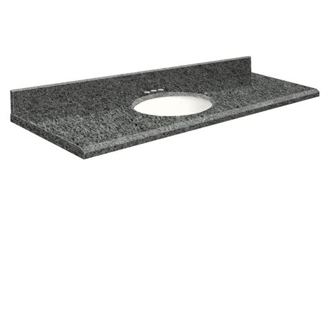 granite undermount bathroom sink shop transolid blue pearl granite undermount single sink