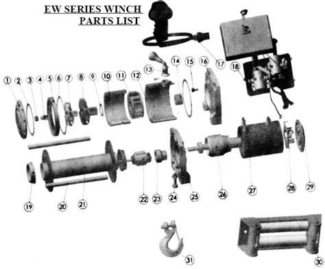Tmax Winch Atw4500 Winch Electric 15 M t max winches ew series winch parts list