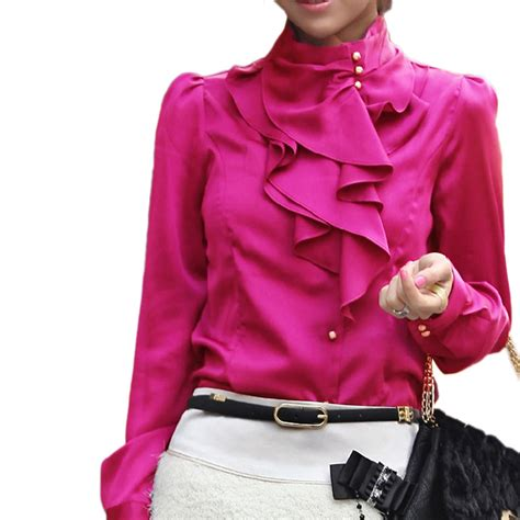 Blouse Import 206 summer blouse winter office shirt career smart tops satin top size 12 6 ebay