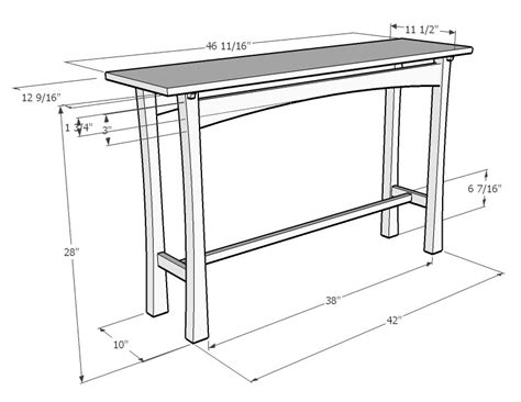 sofa table dimensions furniture design starts with a sketch the craftsman s path