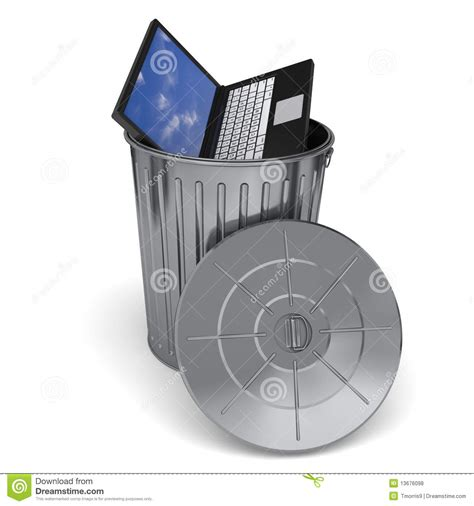 Trashing by Trashing Computer Royalty Free Stock Photos Image 13676098