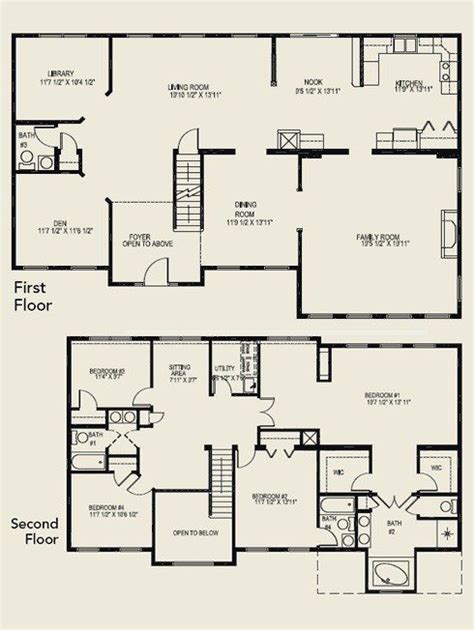 luxury 4 bedroom house plans luxury 4 bedroom 2 story house floor plans new home