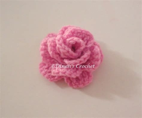 pattern mengait bunga dinah s crochet how to crochet a rose 1