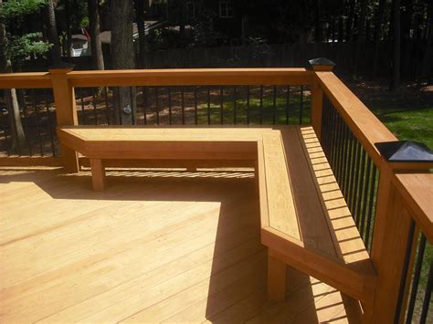 deck railing with bench seating deck on pinterest decks deck benches and railings