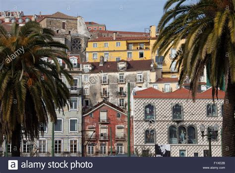 buy house lisbon portugal lisbon old city houses tenement buildings apartments stock photo royalty