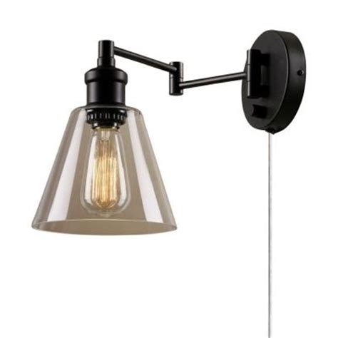 Wall Sconce With Cord Globe Electric 1 Light Bronze In Wall Sconce