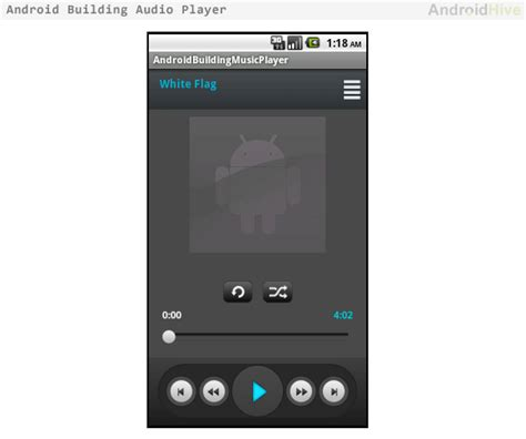 tutorial android media player image gallery icon audio player bar