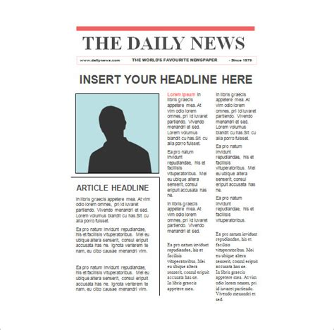editable newspaper template paper template 37 free word excel pdf format