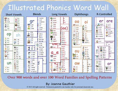 Ell Pattern Words   phonics word wall short vowels long vowels blends ell