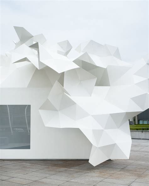Origami Structures - origami architecture mood