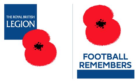 Patch Poppy Football Remember football teams shirt and kits fan 2016 poppy remembrance day appeal patch