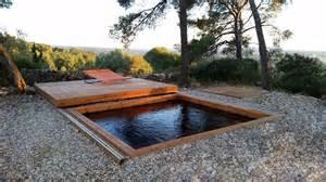 couverture piscine bois rigide terrasse mobile