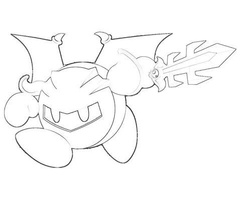 kirby coloring pages meta knight meta knight coloring pages coloring home