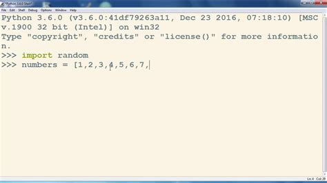 tutorial python list how to shuffle a list of numbers in python programming