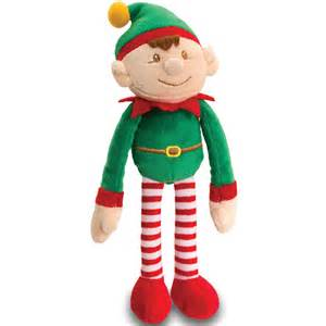 christmas elves santa s elf plush toy keel toys