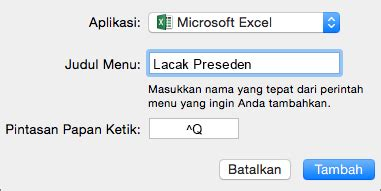 Microsoft Office Buat Mac membuat pintasan keyboard kustom untuk office 2016 untuk