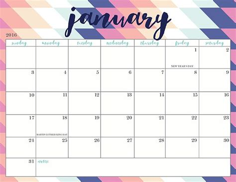 printable calendar jan 18 oh so lovely blog free printable 2016 calendars 20
