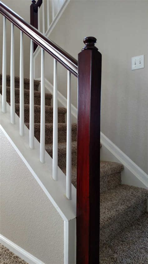 how to restain stair banister restaining banister 28 images how to paint stairway