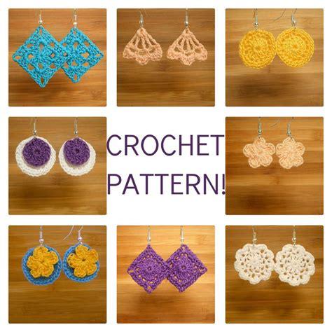 free crochet pattern heart earrings 17 best images about crocheted earring patterns on