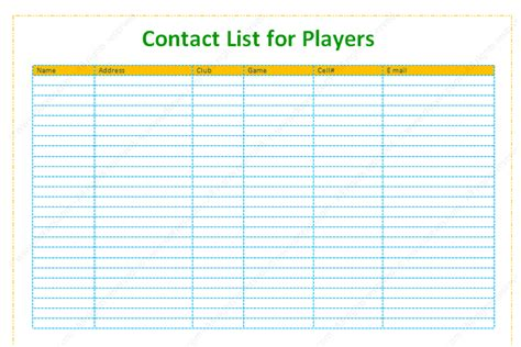 contact information list template contact and phone list template for supports dotxes