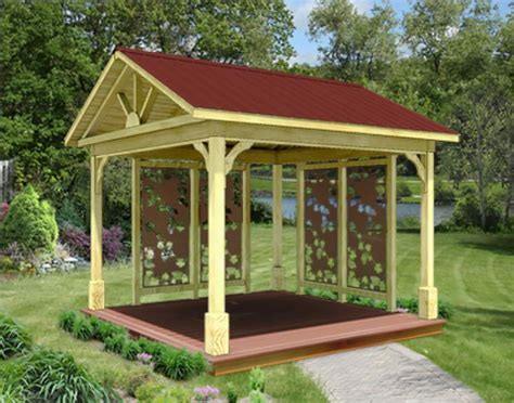 Gable Roof Gazebo Treated Pine Gable Roof Open Rectangle Gazebos Gazebos