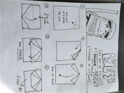 How To Fold Origami Wars Characters - wars origami a list of diagrams for folding