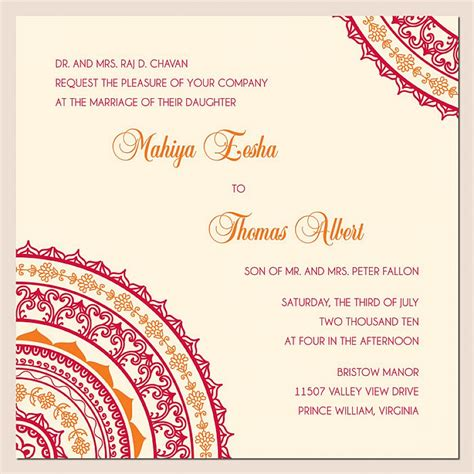indian wedding card templates free wedding invitation wording ideas best wedding invitation