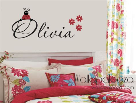 ladybird wall stickers bug wall decal ladybug wall decal name decal
