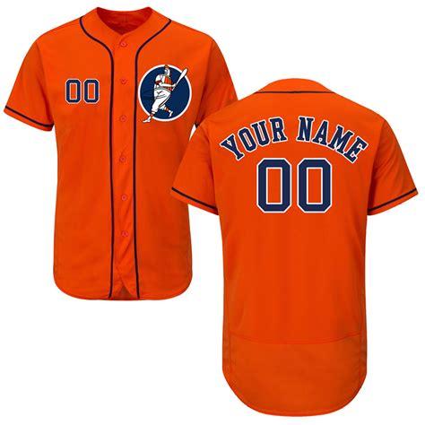 design jersey orange new astros orange men s customized flexbase new design
