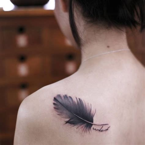 feather tattoo shoulder blade 40 feather tattoo designs with meaning