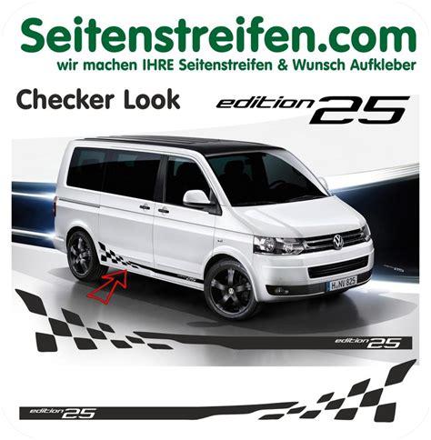 Seitenstreifen Aufkleber Porsche by Vw T4 T5 Wunsch Text Checker Aufkleber Seitenstreifen