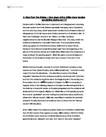 Bridges Essay Writing by A View From The Bridge Essay Gcse Marked By Teachers