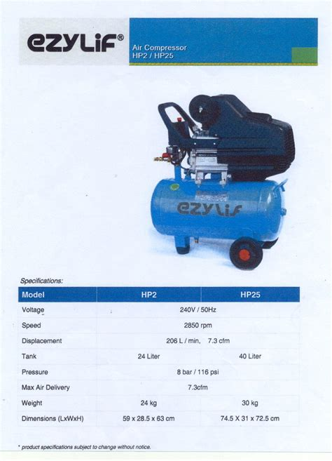 ezylif air compressor johor bahru jb malaysia supply supplier suppliers assia metal