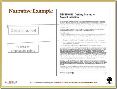 use narrative template doc documenting processes the narrative approach 171 bpm