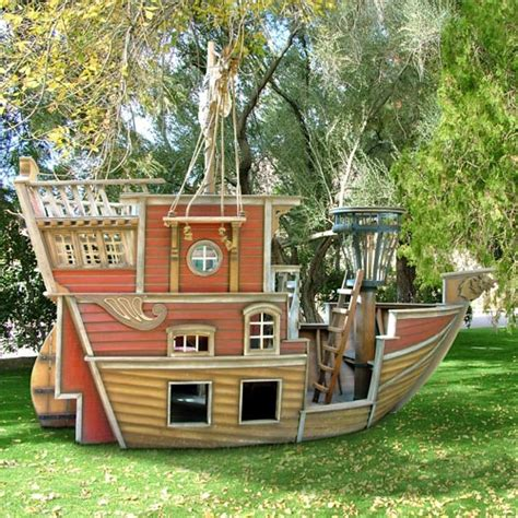 backyard pirate ship outdoor kids play house for boys pirate ship playhouse