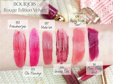 Borjouis Edition Velvet Lipstick Ist bourjois edition velvet lipstick happy year and plum plum mateja s