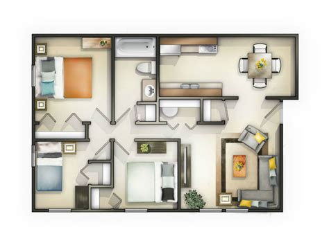 one bedroom apartments in knoxville tn knoxville tn apartment pine ridge floorplans
