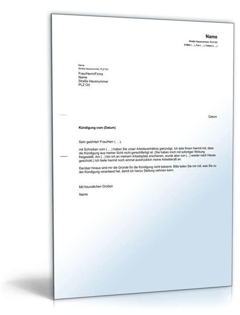 Musterbrief Angebot Machen angebot arbeitskraft nach k 252 ndigung muster zum