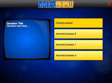 Game Show Ppt Template Quiz Show Template Powerpoint Best Quiz Powerpoint Template Free