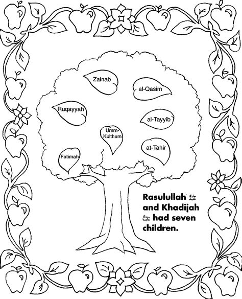 5 pillars of islam coloring page coloring pages for all