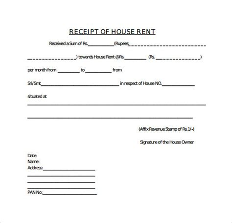 house rent receipt template doc 21 rent receipt templates sle templates